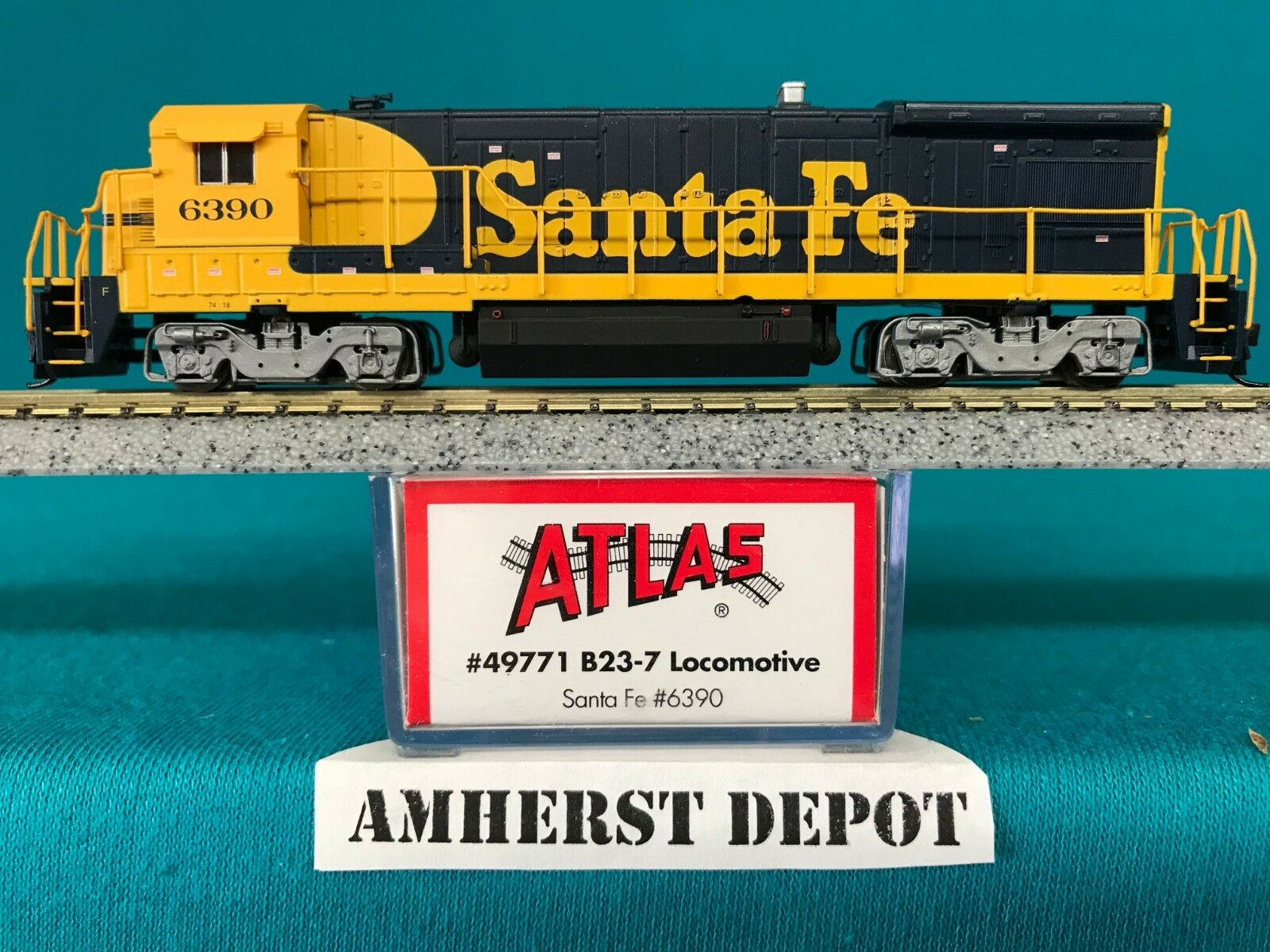 49771 Santa Fe Atlas N Scale B23-7 DCC Equipped Equipped Equipped NIB 2fc4a1