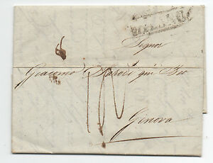 1830 Switzerland Cover and Letter to Geneva Switzerland with Markings