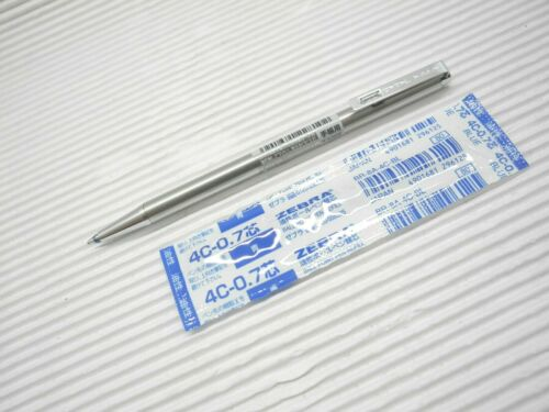 Tracking No. Japan 10 X Sliver ZEBRA T-3 0.7mm ballpoint pen//oil based mini pen