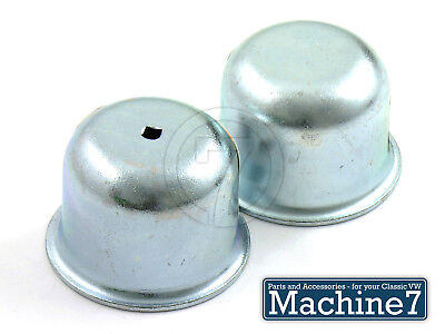 Classic VW Beetle Front Wheel Bearing Spindle Grease Cap Dust Cover Bug 65 Pair