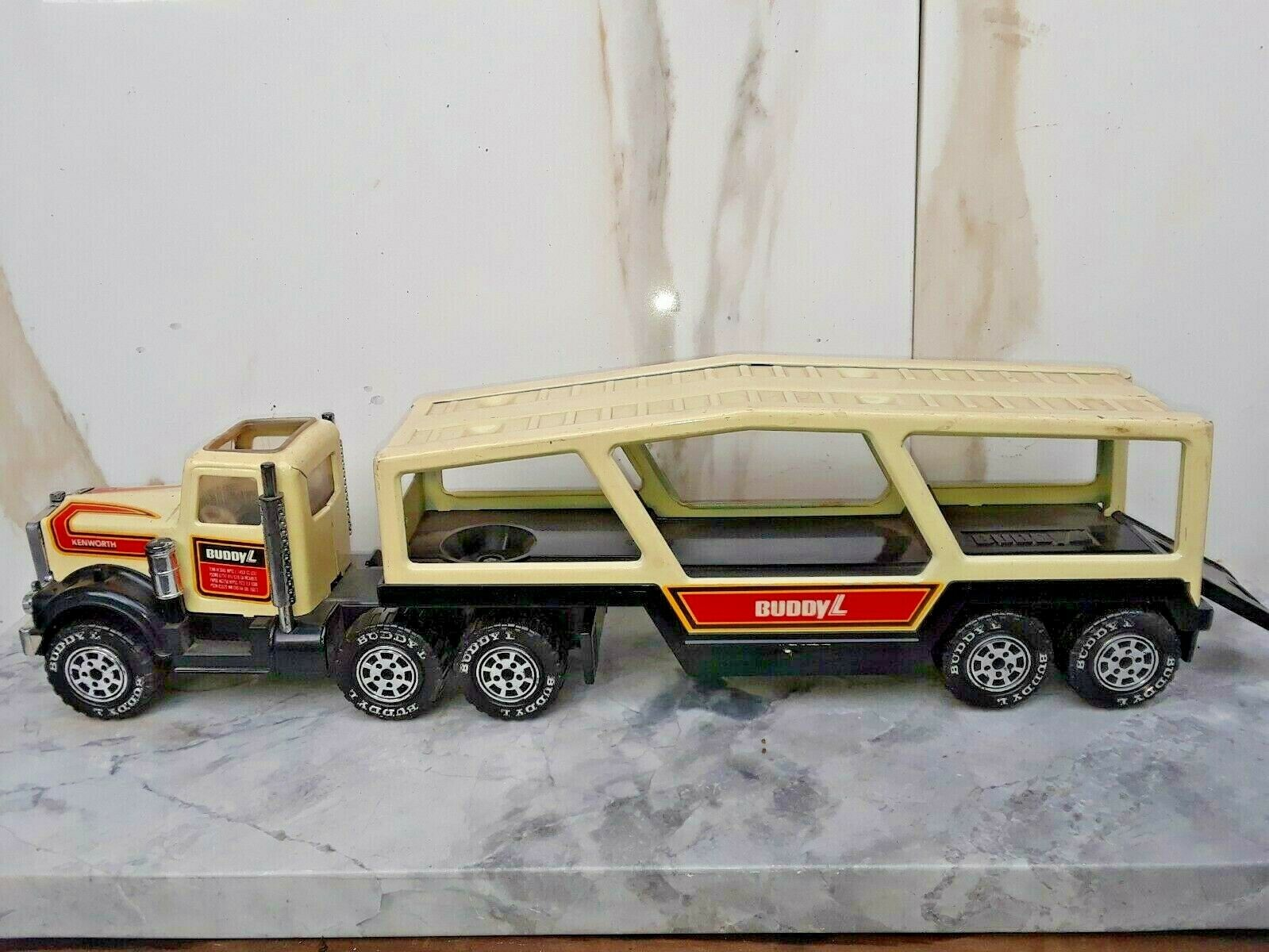1980'S BUDDY L BOAT HAULER CARRIER METAL & PLASTIC Spielzeug TRUCK