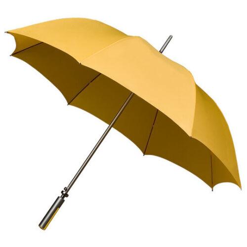 IMPLIVA 120 CM Übergroß Automatik Schirme Regenschirm Stockschirm honigfarben
