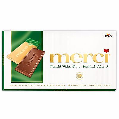 3 x Merci - Bar of Chocolate (Hazelnut-Almond/Mandel-Milch-Nuss) 300g / 0.66lbs