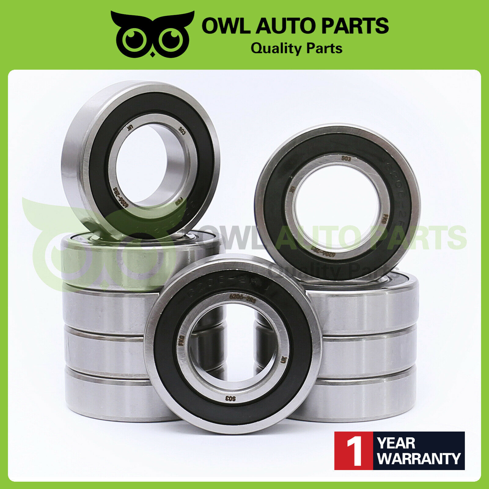 6206-2RS C3 SKF Brand rubber seal bearing 6206-rs ball bearings 6206 rs Qty.10