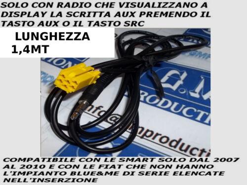 Cavo AUX Mp3 Alfa 159 Fiat 500 Grande Punto Evo Panda SOLO se Aux a display 1,4M