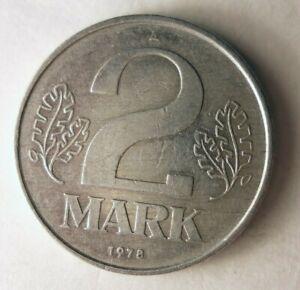 1978-East-Alemania-2-Marca-Excelente-Frio-Guerra-Moneda-DDR-Bin-3