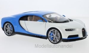 2016-1:18 WELLY   *NEW* weiss//hellblau Bugatti Chiron