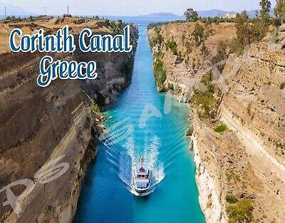 CORINTH CANAL Travel Souvenir Flexible Fridge MAGNET Greece