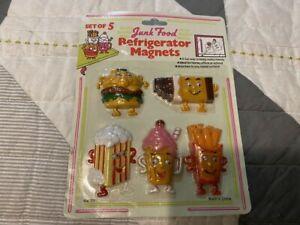 NEW-VINTAGE-SET-OF-5-JUNK-FOOD-REFRIGERATOR-MAGNETS-NO-77-GOOGLY-EYES