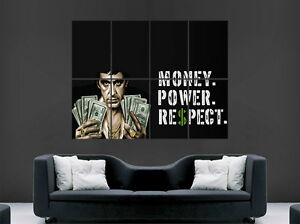 Image is loading SCARFACE-MONEY-QUOTE-POSTER-AL-PACINO-CLASSIC-MOVIE- & SCARFACE MONEY QUOTE POSTER AL PACINO CLASSIC MOVIE WALL ART PRINT ...