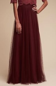 e6a82297f NEW $220 BHLDN Jenny Yoo Louise Tulle Maxi Skirt Cabernet Bridesmaid ...