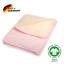 kids/&me kuschelige Babydecke rosa-gelb aus 100/% Bio-Baumwolle Made in Germany
