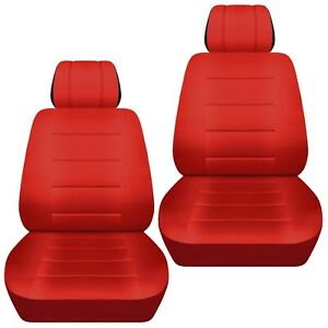 front set car seat covers fits 1997 2020 toyota camry solid red ebay ebay