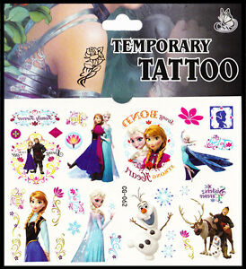 disney 39 s frozen temporary tattoo 10 designs multipack tattoos free p p ebay. Black Bedroom Furniture Sets. Home Design Ideas