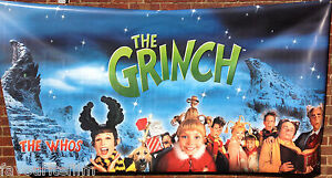 How The Grinch Stole Christmas 2000 Whos.Details About Cinema Banner How The Grinch Stole Christmas 2000 The Whos Title Jim Carrey