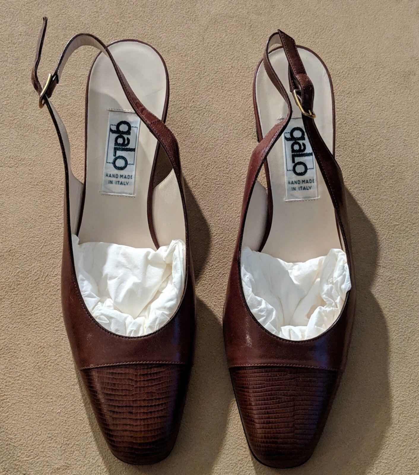 Prezzo al piano BNIB  Beautiful Beautiful Beautiful Designer GALO scarpe Sling Back Heels Made in ITALY - Dimensione 39  Sconto del 70% a buon mercato
