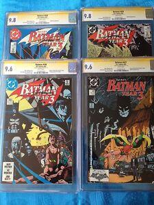 Batman-Year-Three-set-plus-437-DC-CGC-SS-9-6-x2-9-8-x3-Signed