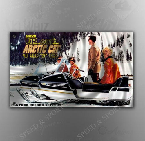 VINTAGE ARCTIC CAT 1970 PANTHER SNOWMOBILE BANNER
