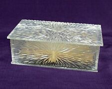Celebrity New York, NY Vintage Lucite Jewelry Box with Tray & Pad