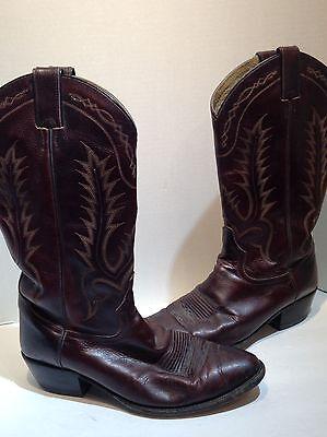 Tony Lama Burgundy Cowboy Boots Size 9.5