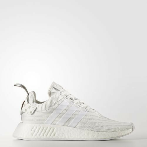 Adidas Women's NMD R2 Primeknit  Triple White  Athletic   Training shoes BY2245