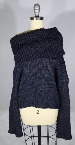 MS MIN 4/S US  Heavy Chunky Knit Off The Shoulder… - image 1