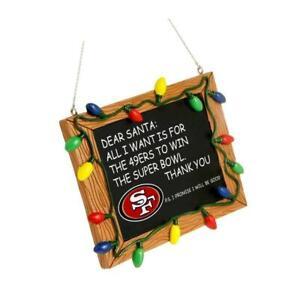 Superbowl 2020 Christmas Ornaments 2020 San Francisco 49ers Super Bowl Letter To Santa Chalkboard