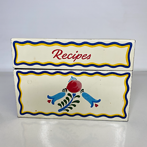 Ohio-Art-Co-Recipe-Box-Vintage-USA-With-Blank-Recipe-Cards