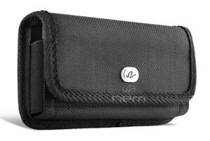 For-iPhone-XR-Rugged-Nylon-Canvas-Metal-Belt-Clip-Holster-Carrying-Pouch-Cover