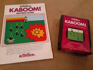 KABOOM! by ACTIVISION for Atari 2600 ▪︎ CARTRIDGE and MANUAL ▪︎