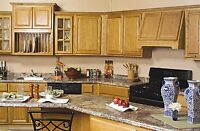 All Wood Rta 10x10 Country Oak Kitchen Cabinets With Finger Grip & Plywood Box