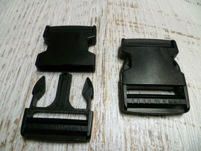Quick Side Release Buckle Clips - 50mm - Black Plastic - 1 Backpack Bag Clip