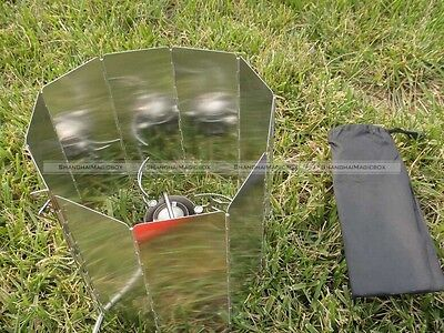 66.4 × 24cm Mini Windshield Wind Screen Stove For Camping Gear 8pcs