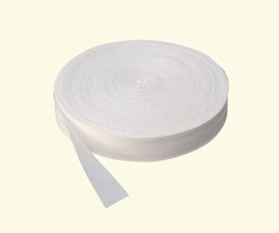 5 X METRES cotton bunting tape  white or black 25mm wide
