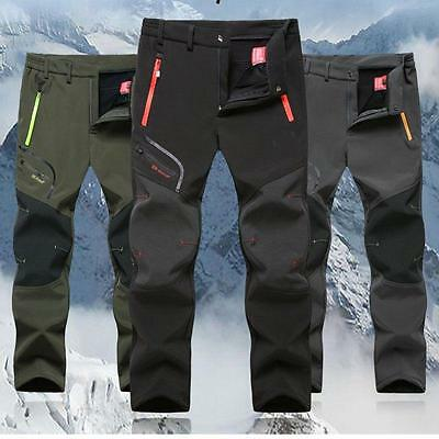 Stylish Mens Soft shell Outdoor Pants Thick Casual Combat Hiking Trousers