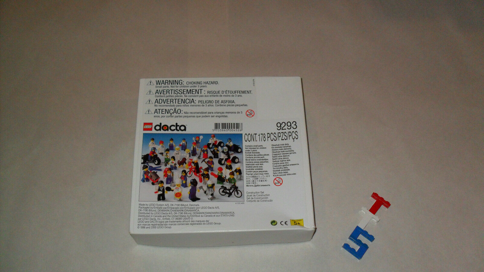 RARE 1996 Retirosso Nuovo Sealed* LEGO 9293 Dacta Community Workers Minifigure lot