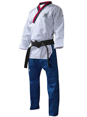 ADIDAS TAEKWONDO POOMSAE UNIFORM WTF DAN TKD DOBOK YOUTH MALE