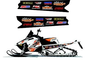 POLARIS HOOD GRAPHIC RUSH PRO RMK 600 700 800 ASSAULT 120 155 163  DECAL WRAP 7
