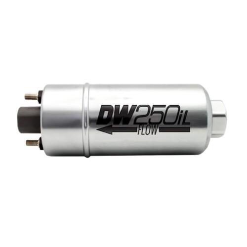 DeatschWerks 250LPH In-Line External Fuel Pump w// Mounting Brackets