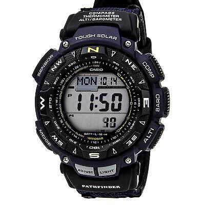 Casio Men's PAG240-1CR Pathfinder Solar Powered Triple Sensor Blue Nylon Watch