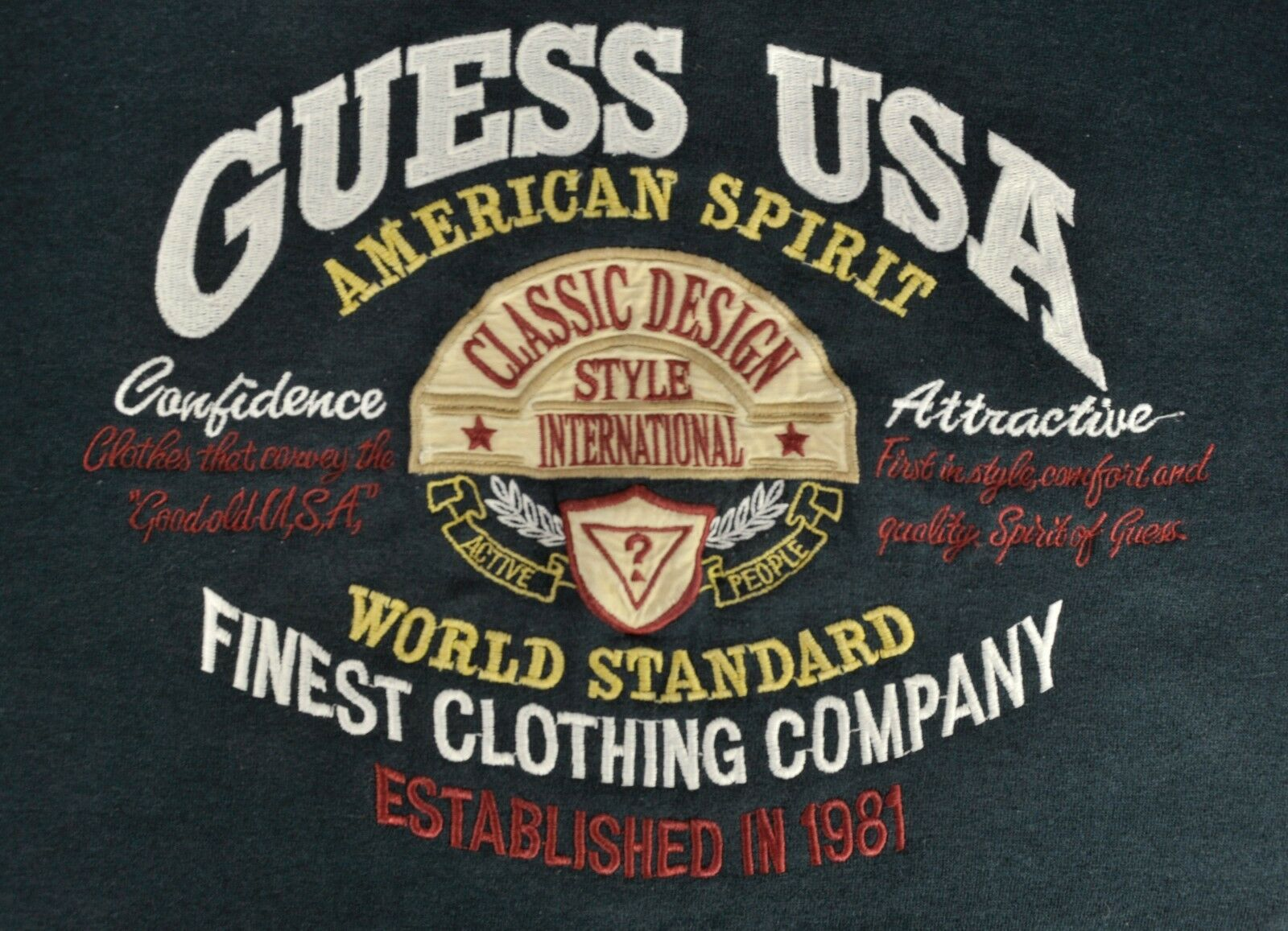 RARE Vintage Guess Georges Marciano Sweatshirt Spellout 90s Medium - 23