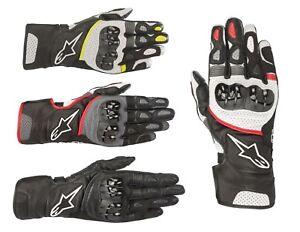 Ships Same Day Alpinestars Sp 2 V2 Leather Road Motorcycle Gloves Ebay
