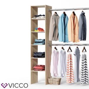 Details Zu Vicco Kleiderschrank Sonoma Eiche Offen Begehbar Regal Kleiderständer Garderobe