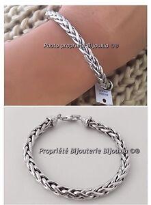 Bracelet,Maille,Palmier,19CM,En,Argent,Massif,925,