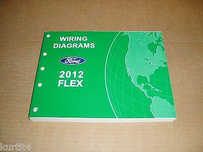 2012 Ford Flex Electrical Wiring Diagram Service Shop Dealer Repair Manual Ebay