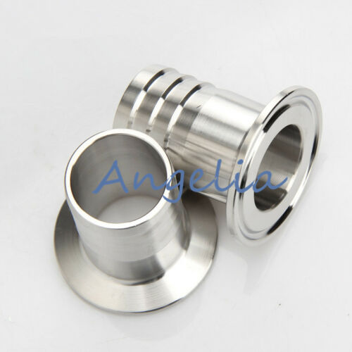 """3/"""" Stainless Steel 304 Sanitary Hose Barb Pipe Fittings Clamp OD 91MM"""