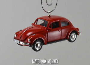 Image Is Loading Clic Red Volkswagen Beetle Custom Christmas Ornament Vw