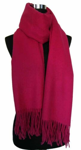 """Hot Pink New Large 80/""""x28/"""" 4-Ply 100/% Pure Cashmere Luxurious Women Shawl Wrap"""
