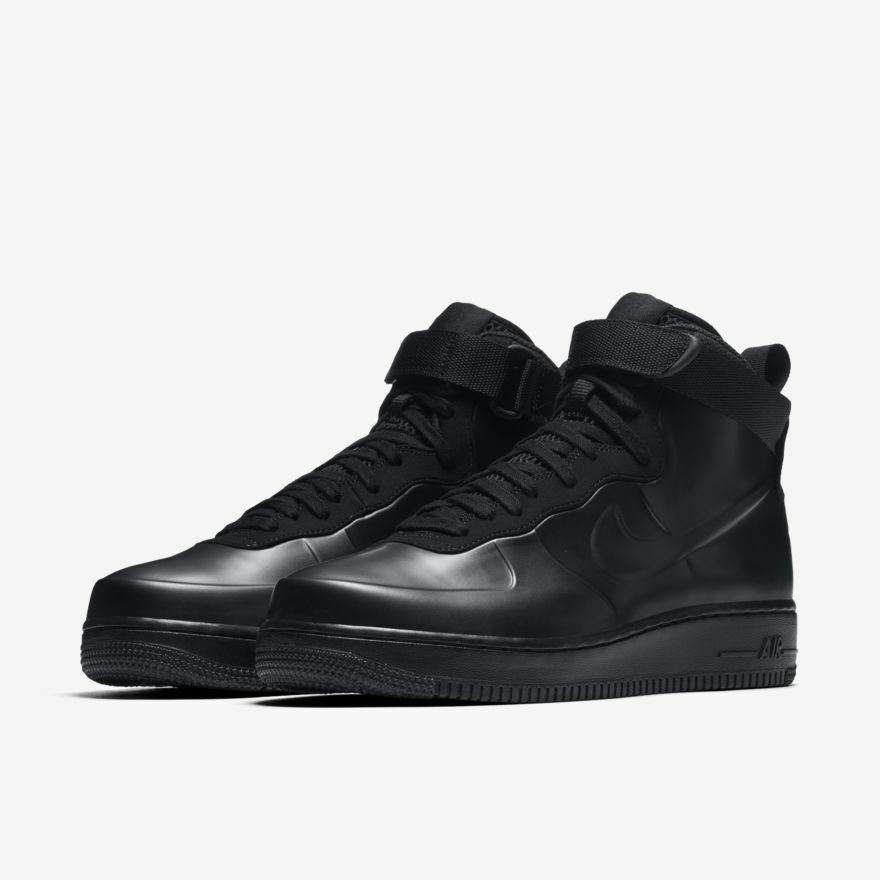 NIKE AIR FORCE 1 FOAMPOSITE CUP AF1 BLACK MEN'S TRAINERS SHOES BOOTS UK 8