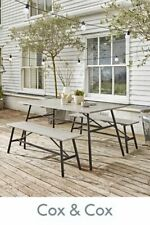 Cox & Cox Indoor/Outdoor Stylish Grey Washed Acacia Porto Dining Set - RRP £795
